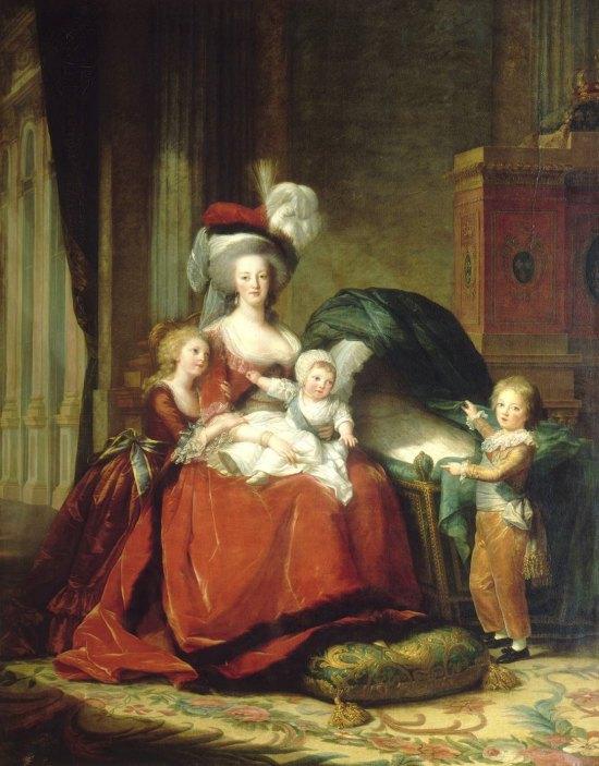 Marie-Antoinette et ses enfants. Peinture d'Élisabeth Vigée Le Brun (1787)