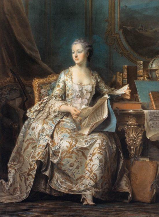 La marquise de Pompadour, par Maurice Quentin de La Tour (vers 1755)