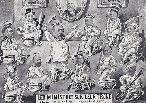 Les ministres sur leur trône
