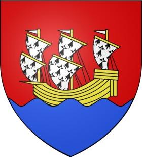 Morlaix (Finistère). Devises et armoiries villes de France : origine on
