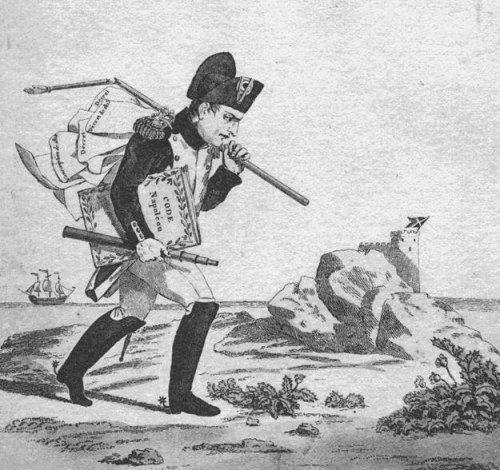 Arrivée de Napoléon dans l'île d'Elbe