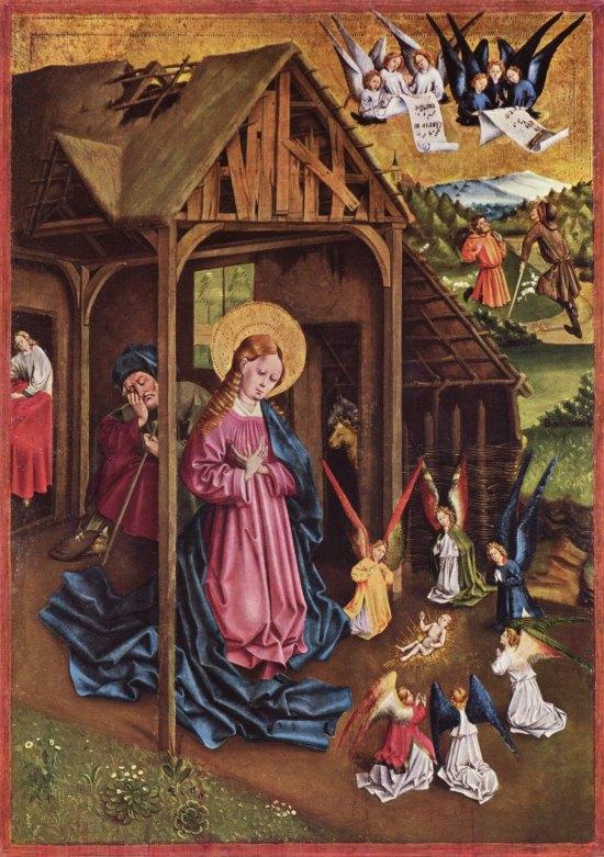 La Nativité. Peinture de Johann Koerbecke (1457)
