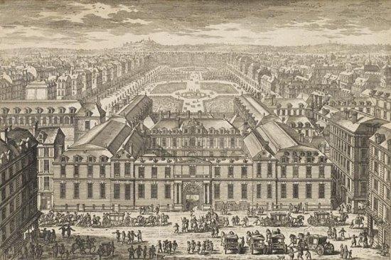 Le Palais-Royal au XVIIe siècle, par Adam Perelle