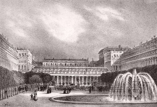 Le Palais-Royal en 1830