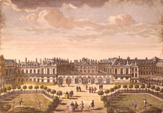 Le Palais-Royal au début du XVIIIe siècle, par Jacques Rigaud