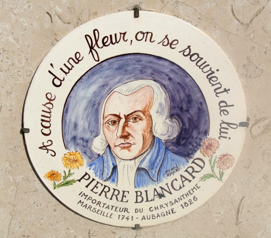 Médaillon donnant le portrait de Pierre Blancard et apposé sur la tombe de celui-ci