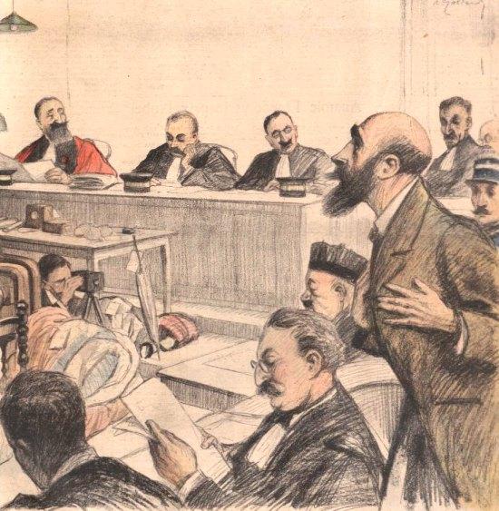 Le procès de Landru. Dessin paru dans Le Petit Journal illustré du 20 novembre 1921