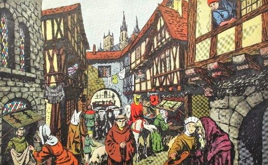 Une rue au Moyen Age