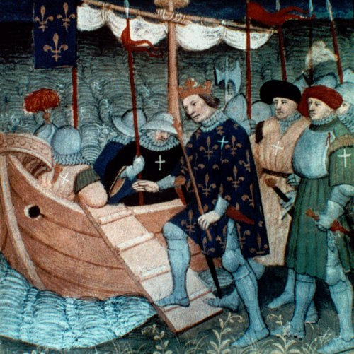 Saint Louis partant en croisade