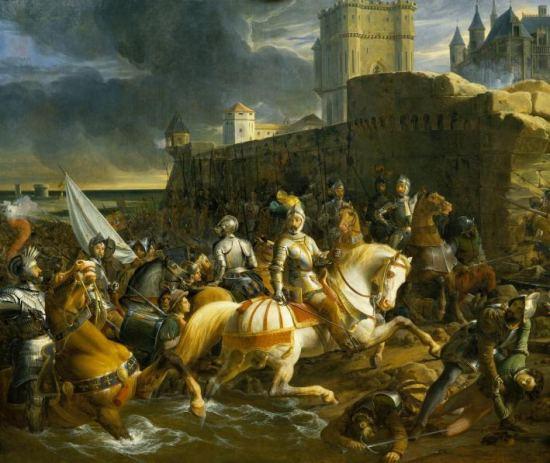 Prise de Calais par les Français en 1558. Peinture de François-Édouard Picot (1838)