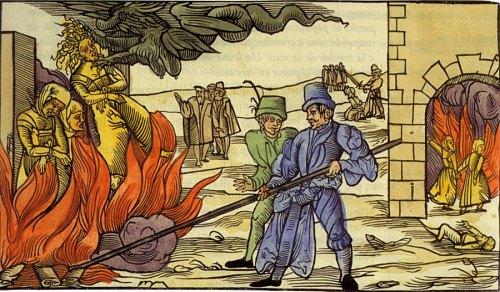 Trois sorcières sur le bûcher
