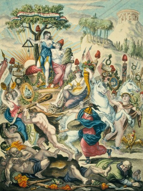 Le Triomphe de la Montagne (1792). Allégorie du parti des Montagnards, députés qui imposèrent la politique de la Terreur en 1793