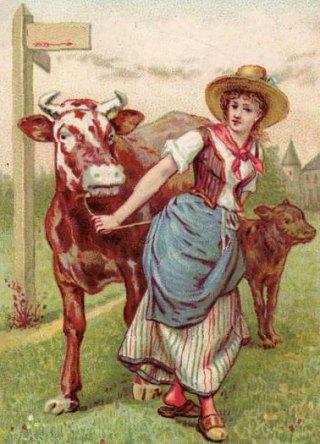 Hommes buvant des histoires de laits du lait