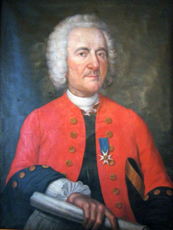François-Amédée Frézier en uniforme d'ingénieur des fortifications