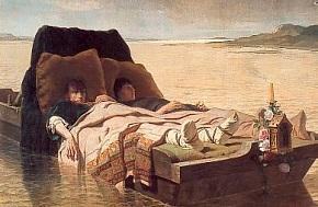 Les énervés de Jumièges. Peinture d'Évariste Vital Luminais (après 1880)