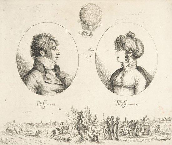 Portraits de Monsieur et Madame Garnerin (André-Jacques Garnerin et Jeanne Labrosse), par Christoph Haller von Hallerstein (vers 1803)