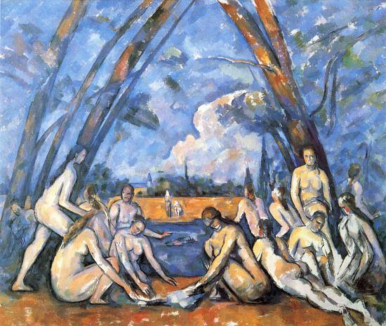 Les Grandes Baigneuses. Peinture de Paul Cézanne (1894-1905)