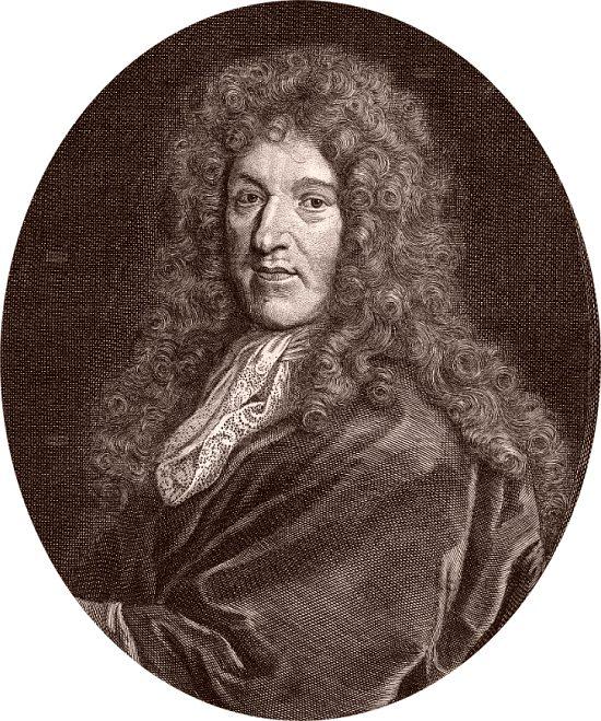 Jean-Baptiste de La Quintinie. Gravure de Florent de La Mare-Richart (1630-1718)