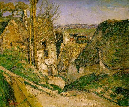 La Maison du pendu, Auvers-sur-Oise (1873). Peinture de Paul Cézanne