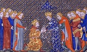 Hommage du roi d'Angleterre Edouard III au roi de France Philippe VI de Valois en 1329