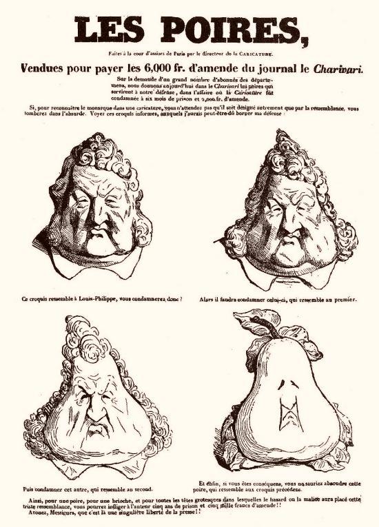 14 novembre 1831 : Louis-Philippe est croqué sous forme de poire par  Charles Philipon