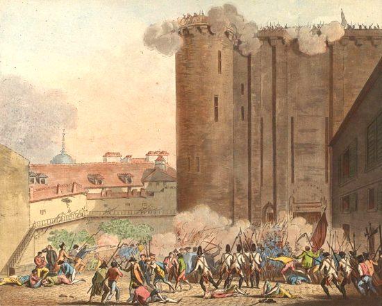Prise de la Bastille le 14 juillet 1789. Gravure réalisée en 1790 par Jean-François Janinet (1752-1814)